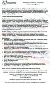 Extended EYC Job Opportunity